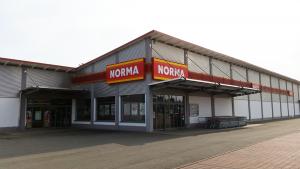 NORMA Filiale Mühlhausen Hollenbacher Landstr. Seitenansicht