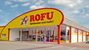 ROFU Spielwaren Shop Eggenfelden Außenansicht